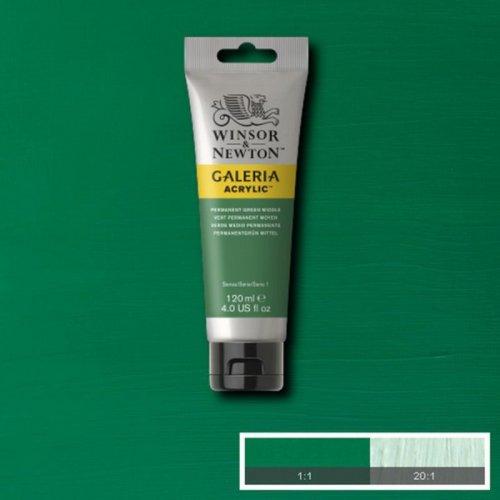 Galeria 120ml Akrilik Boya No:484 Permanent Green Middle - 484 Permanent Green Middle