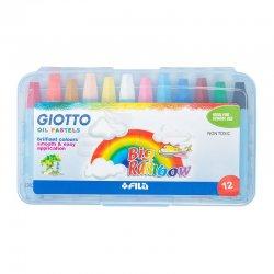 Giotto Big Rainbow - Plastik Kutulu Yağlı Pastel Boya 12 Renk – 295100 - Thumbnail