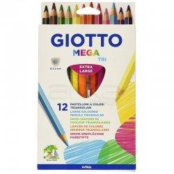 Giotto - Giotto Mega Triangular 12li Kuru Boya Seti 220600