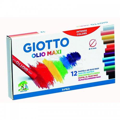 Giotto Olio Maxi - Yağlı Pastel (Silindir) 12 Renk – 293000