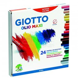 Giotto Olio Maxi - Yağlı Pastel (Silindir) 24 Renk – 293100 - Thumbnail