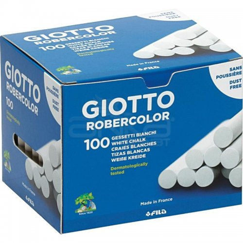 Giotto Robercolor Tozsuz Tebeşir Beyaz 100lü Paket – 538800