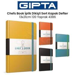 Gıpta - Gıpta Chefs Book İplik Dikişli Sert Kapak Defter 13x21cm 120 Yaprak 4386