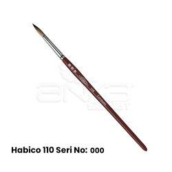 Habico - Habico 110 Seri Samur Yuvarlak Uçlu Fırça (1)