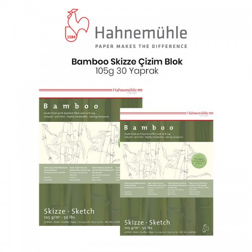 Hahnemühle Bamboo Skizze Çizim Blok 105g 30 Yaprak