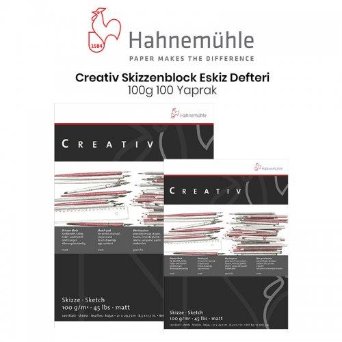 Hahnemühle Creativ Skizzenblock Eskiz Defteri 100g 100 Yaprak
