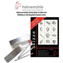 Hahnemühle Eskiz Blok 2 Adet A4 100 Yaprak 150g + Kalem Seti - Thumbnail