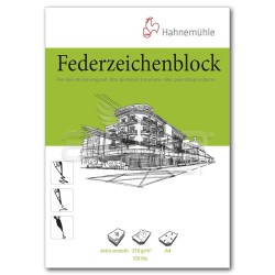 Hahnemühle - Hahnemühle Federzeichenblock Pen and İnk Drawing Pad A4 250g 10 Yaprak (1)
