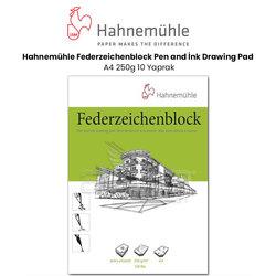 Hahnemühle - Hahnemühle Federzeichenblock Pen and İnk Drawing Pad A4 250g 10 Yaprak