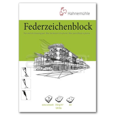 Hahnemühle Federzeichenblock Pen and İnk Drawing Pad A4 250g 10 Yaprak