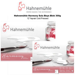 Hahnemühle - Hahnemühle Harmony Sulu Boya Blok 300g 12 Yaprak Cold Pressed