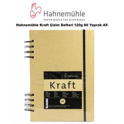 Hahnemühle - Hahnemühle Kraft Çizim Defteri 120g 80 Yaprak A5
