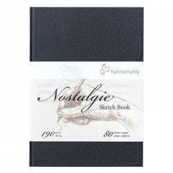 Hahnemühle - Hahnemühle Nostalgie Sketch Book Çizim Defteri Sert Kapak Dikey 190g 80 Yaprak (1)
