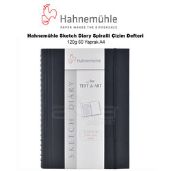 Hahnemühle Sketch Diary Spiralli Çizim Defteri 120g 60 Yaprak A4 - Thumbnail