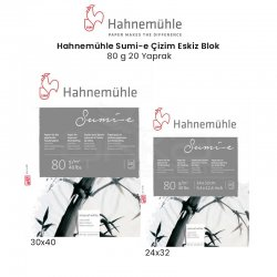 Hahnemühle Sumi-e Çizim Eskiz Blok 80g 20 Yaprak - Thumbnail