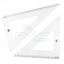 Hatas - Hatas Teknik Okul Öğrenci Gönye Seti 32cm/60-45 (1)