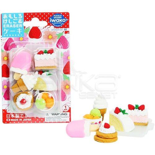 Iwako Puzzle Silgi 6lı Cake - Ice Cream