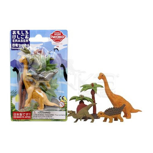 Iwako Puzzle Silgi 6lı Dinosaur Set 2