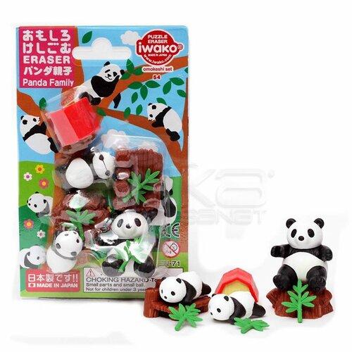 Iwako Puzzle Silgi 6lı Panda