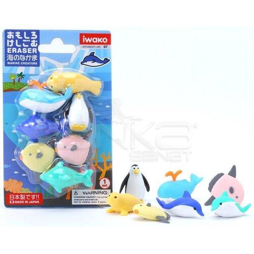 Iwako Puzzle Silgi 7li Marine Animals