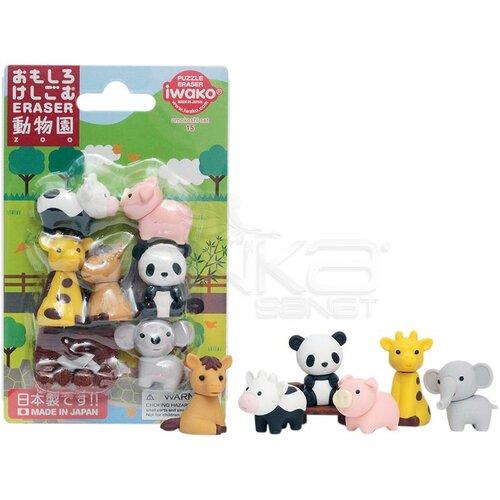 Iwako Puzzle Silgi 7li Zoo