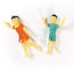 Jordania İnsan Maketi Boyalı Çocuk 1/25 2li İB1025C - Thumbnail