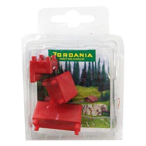 Jordania Maket Koltuk Takımı Kırmızı 1/50 SF225051