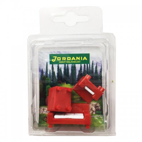 Jordania Maket Koltuk Takımı Kırmızı 1/50 3lü SF225051