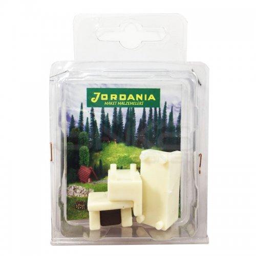Jordania Maket Koltuk Takımı Krem 1/50 3lü SF225054