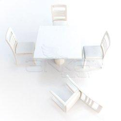Jordania - Jordania Maket Masa ve Sandalye Takımı 1/25 4025-04K (1)