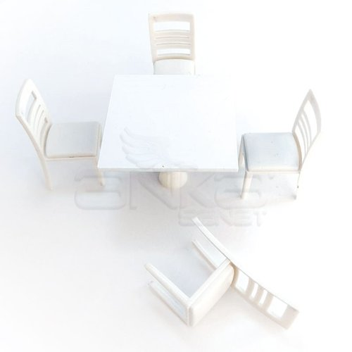 Jordania Maket Masa ve Sandalye Takımı 1/25 4025-04K