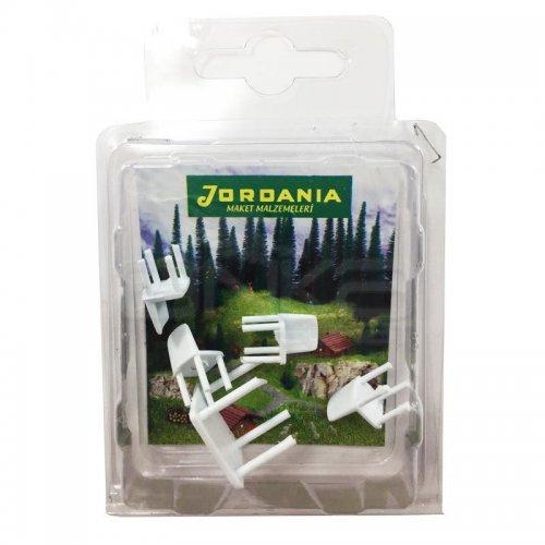 Jordania Maket Masa ve Sandalye Takımı 1/50 5li 4050-05K
