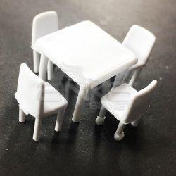 Jordania Maket Masa ve Sandalye Takımı 1/50 5li 4050-05K - Thumbnail