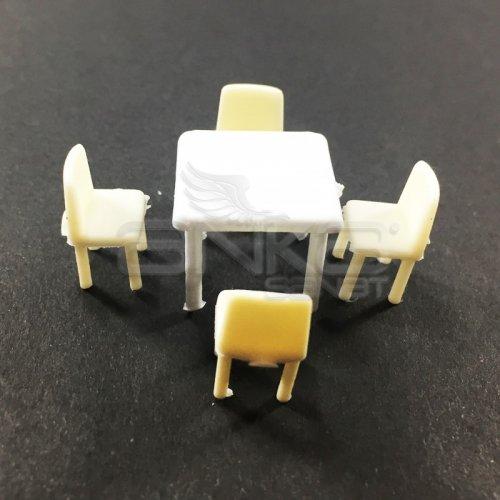Jordania Maket Masa ve Sandalye Takımı 1/50 5li EF4053