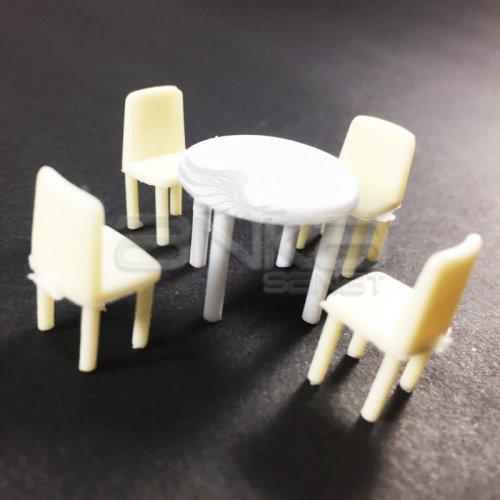Jordania Maket Masa ve Sandalye Takımı 1/50 5li EF4054