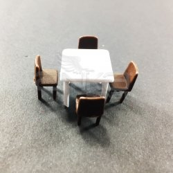 Jordania Maket Masa ve Sandalye Takımı 1/50 5li EF4055 - Thumbnail