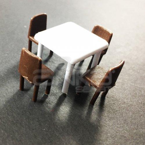 Jordania Maket Masa ve Sandalye Takımı 1/50 5li EF4055