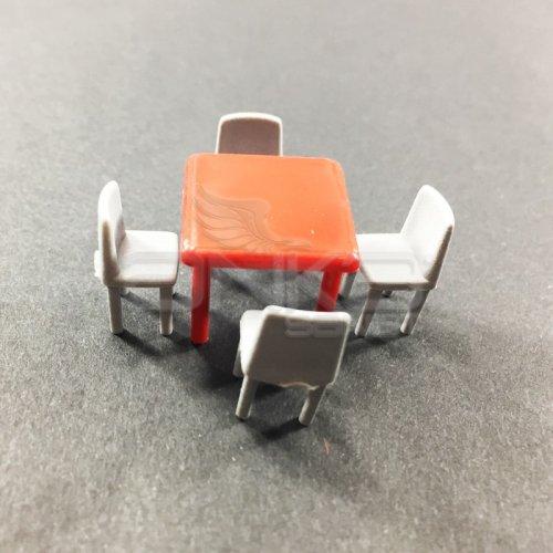 Jordania Maket Masa ve Sandalye Takımı 1/50 5li EF4057