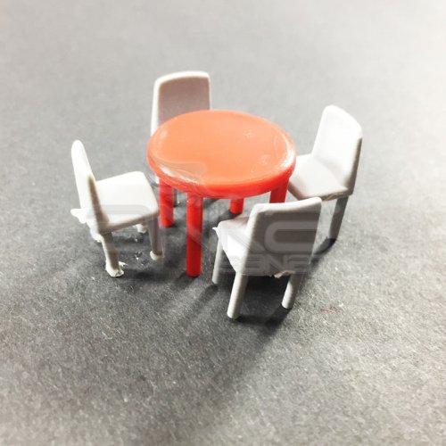 Jordania Maket Masa ve Sandalye Takımı 1/50 5li EF4058