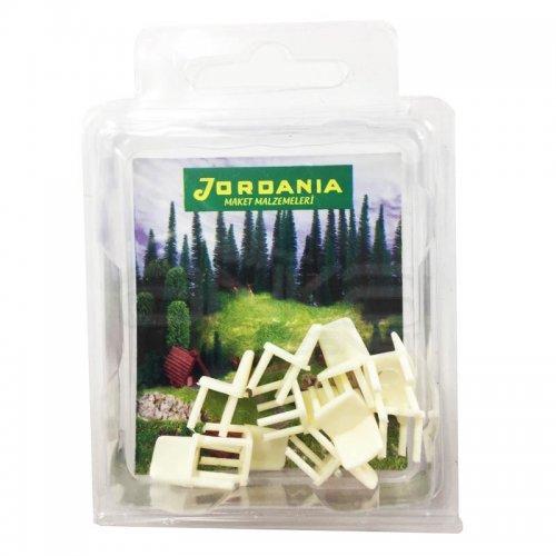 Jordania Maket Sandalye Krem 1/50 10lu EF4050-11