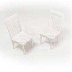 Jordania - Jordania Sandalye Maketi Beyaz 1/25 2li EF3025-03 (1)