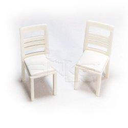 Jordania - Jordania Sandalye Maketi Beyaz 1/25 2li EF3025-04 (1)