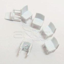 Jordania - Jordania Sandalye Maketi Beyaz 1/50 6lı E3050 (1)