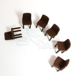 Jordania - Jordania Sandalye Maketi Kahve 1/50 6lı E3052 (1)