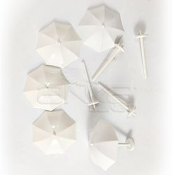Jordania - Jordania Şemsiye Maketi Beyaz 1/100 5li MT100B (1)