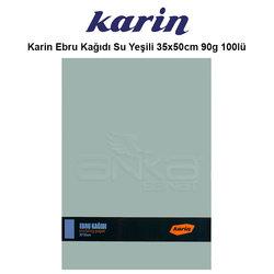 Karin - Karin Ebru Kağıdı Su Yeşili 35x50cm 90g 100lü