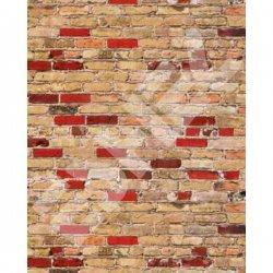 Eshel - Eshel Karışık Tuğla Desenli Karton Duvar 1/50 Paket İçi:3 (1)