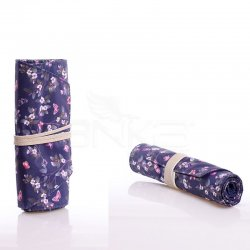 Anka Art - Kaukko Roll Art Kalem Çantası Lacivert Çiçekli Kod:K2191 (1)