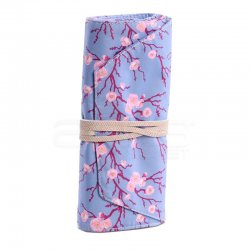 Anka Art - Kaukko Roll Art Kalem Çantası Bebek Mavi Çiçekli Kod:K2192