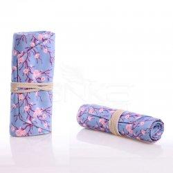 Anka Art - Kaukko Roll Art Kalem Çantası Bebek Mavi Çiçekli Kod:K2192 (1)